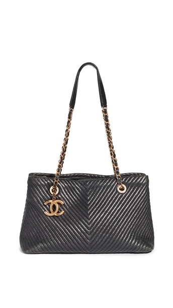 Shopbop Archive Chanel Chain Tote in black