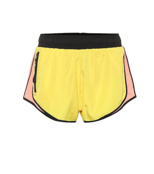 P.E Nation Sprint Vision shorts in yellow