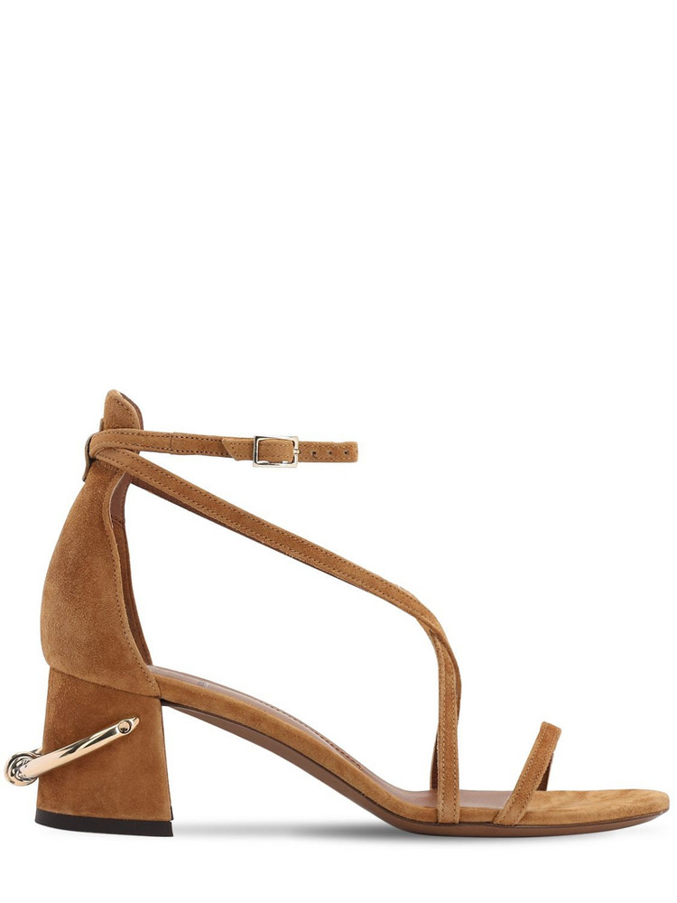 L'AUTRE CHOSE 60mm Suede Sandals in tan