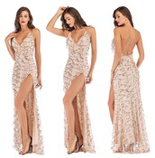 dress,prom dress,long prom dress,sequined prom dress,sequins