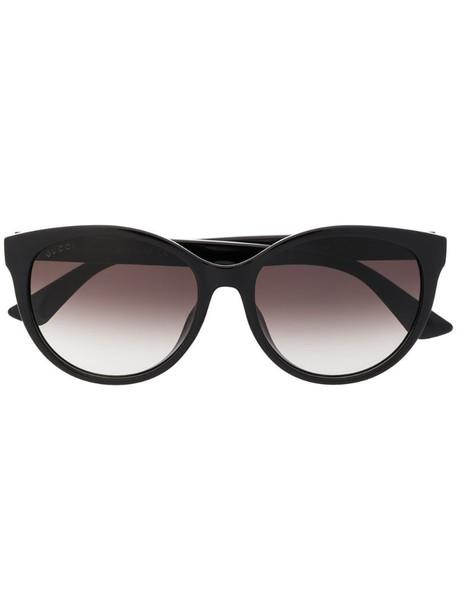 Gucci Eyewear round-frame sunglasses in black