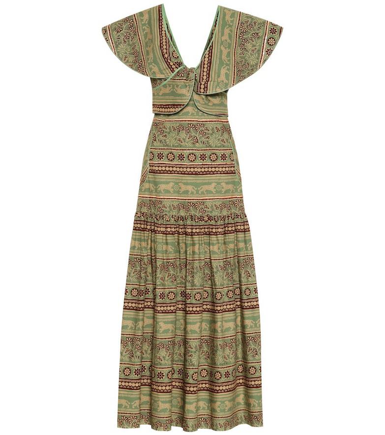 Johanna Ortiz Subcultural Enemies poplin dress in green