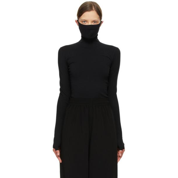 Balenciaga Black Mask Turtleneck