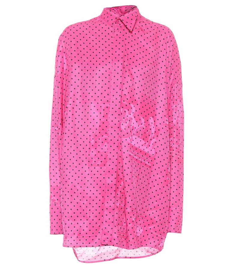 Balenciaga Tuxedo Scarf polka-dot shirt in pink