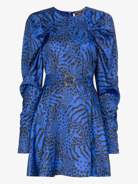 ROTATE tara animal print mini dress