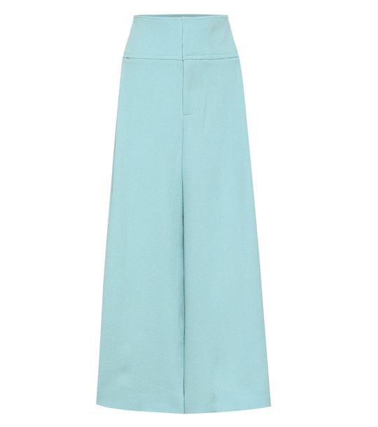 Roland Mouret Lenark wool-crêpe wide-leg pants in blue