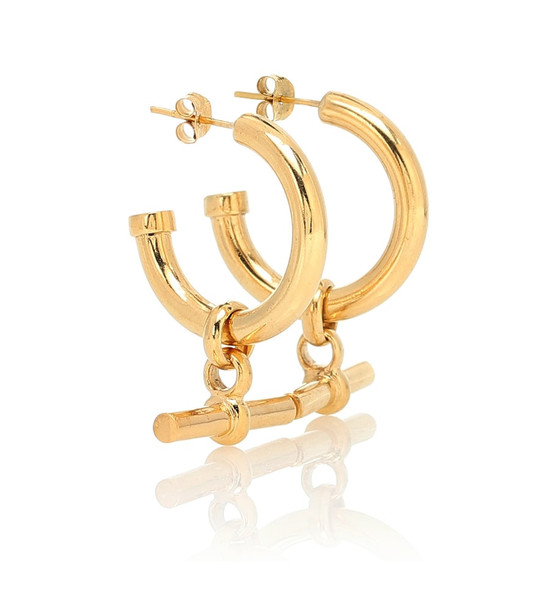 Tilly Sveaas Gold-plated hoop earrings
