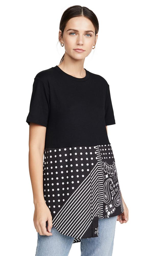 Monse Bandana Shirttail Tee in black