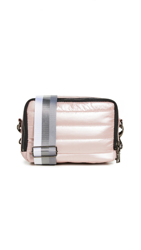 Think Royln Double Zip Crossbody Bag in blush
