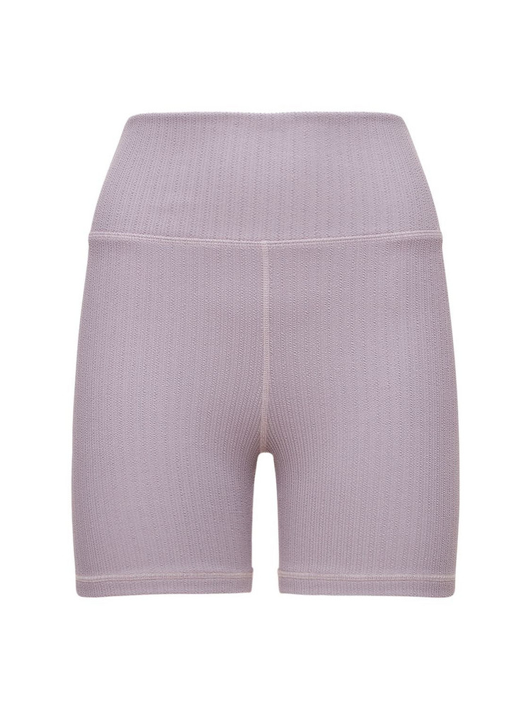 THE UPSIDE Jacquard Mini Spin Shorts in violet