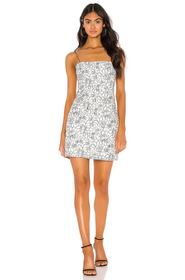 Bardot Angie Jacquard Dress in white