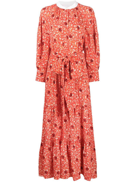 Chloé floral print maxi dress in red