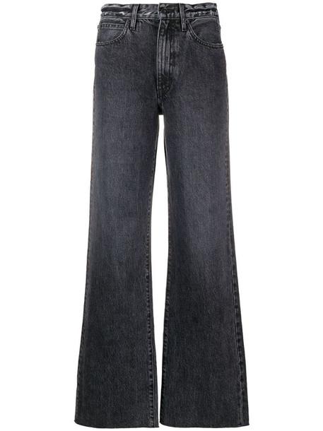 Slvrlake raw-hem wide-leg jeans in grey