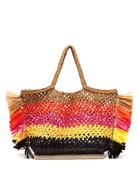 Altuzarra - Espadrille Large Striped Woven Totebag - Womens - Orange Multi