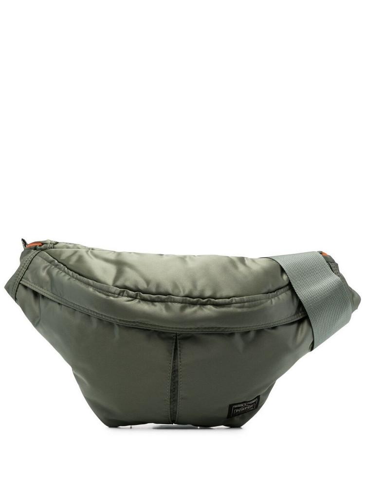 Porter-Yoshida & Co. Porter-Yoshida & Co. logo-patch metallic belt bag - Green