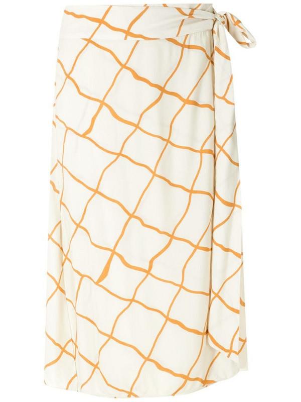 ESC Rede wrap midi skirt in yellow