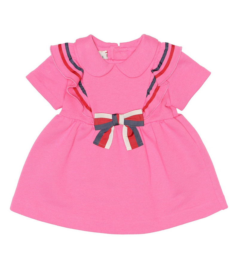Gucci Kids Baby cotton jersey dress in pink