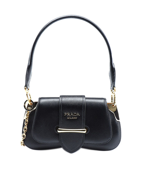 Prada Shoulder Bag Saffiano Lux in nero