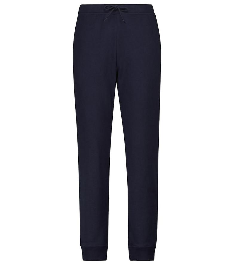 A.P.C. Item F cotton fleece sweatpants in blue