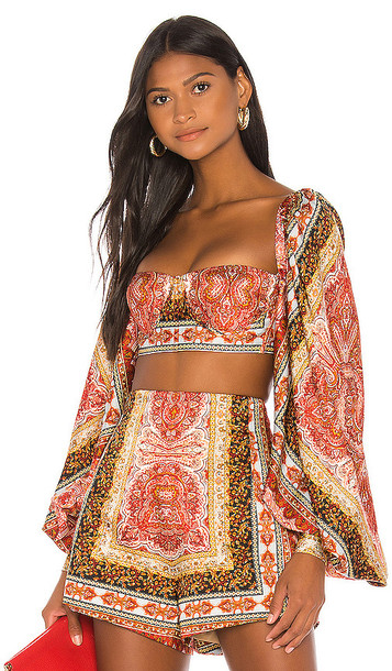 Bronx and Banco Runway Bedouin Flame Bralette in Red