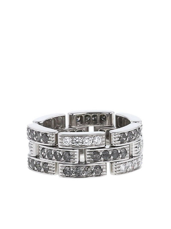 Cartier 2000s pre-owned 18kt white gold diamond Maillon Panthère ring