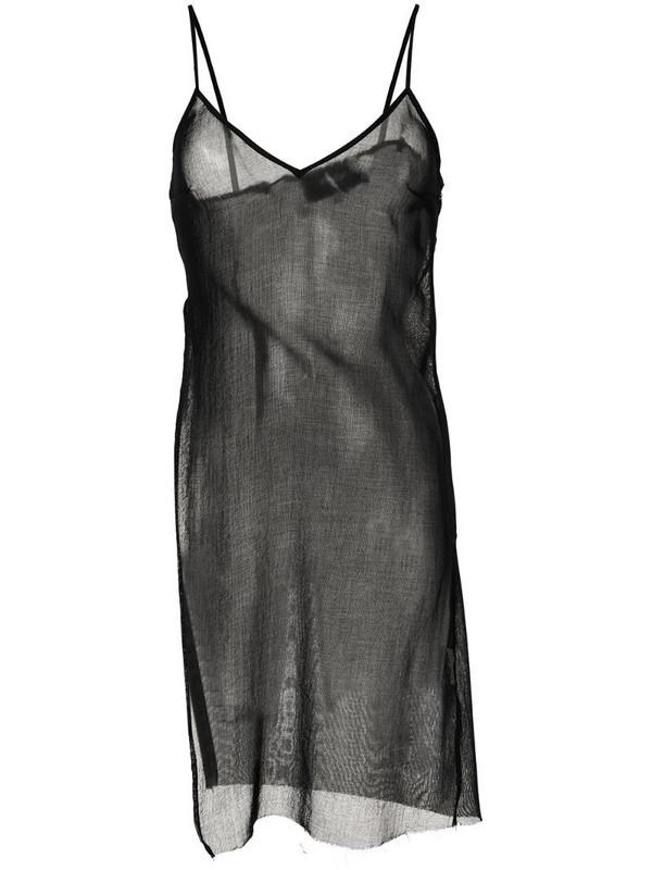 Yang Li sheer tank top in black