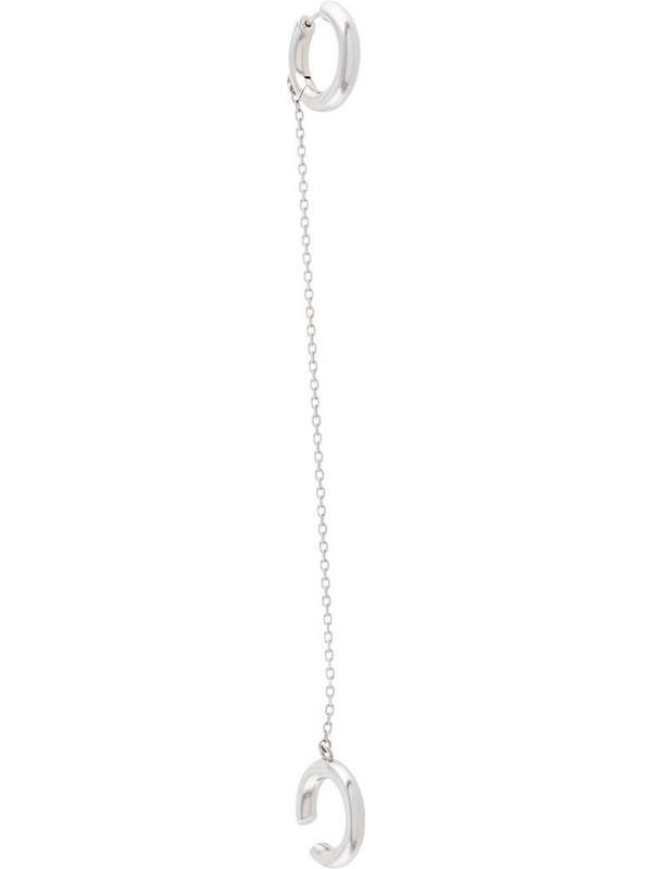 Alan Crocetti single chain-link cuff earring in silver