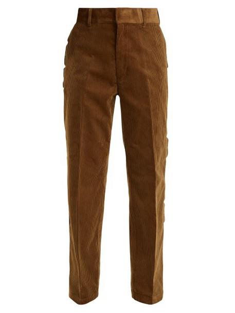 Toga - Scallop Edge Cotton Corduroy Trousers - Womens - Camel