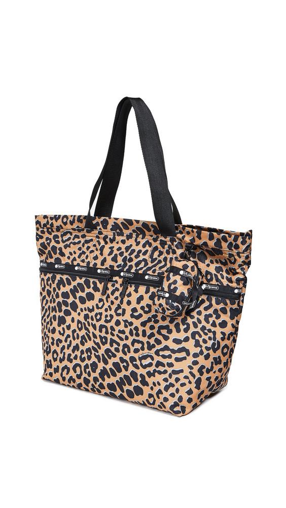 LeSportsac Carlin Top Zip Tote in leopard