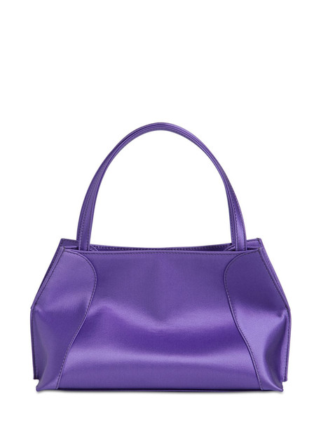 BY FAR Charlotte Satin Top Handle Bag in purple