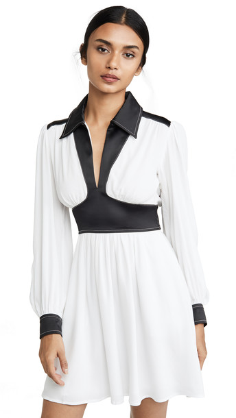 STAUD Dolly Dress in black / white