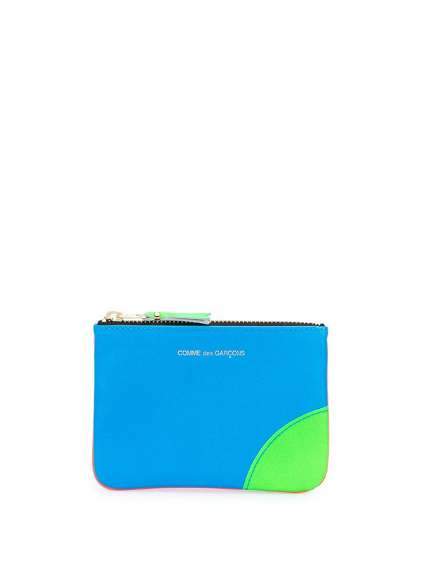 Comme Des Garçons Wallet colour block coin purse in orange