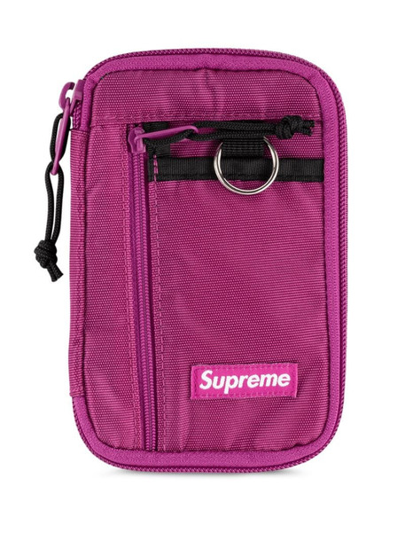 Supreme small zip pouch in pink