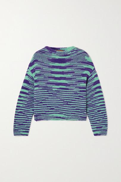 Missoni - Striped Alpaca-blend Sweater - Blue