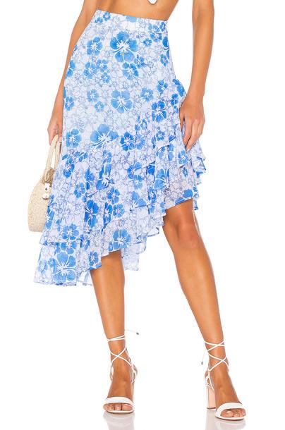 All Things Mochi Ebony Skirt in blue