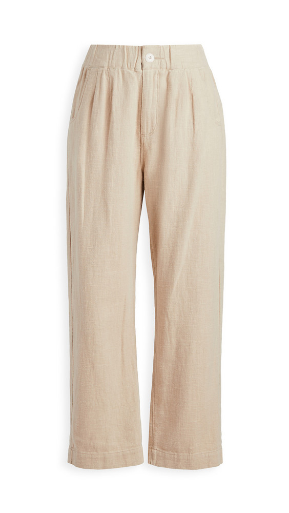 THE GREAT. THE GREAT. The Sea Trousers. in cream