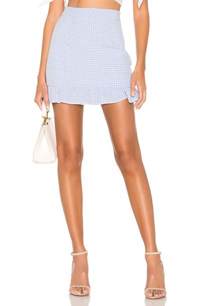 superdown Evey Mini Skirt in blue