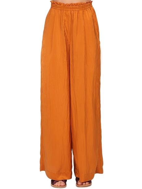 FORTE FORTE Habotai Silk Pants in orange