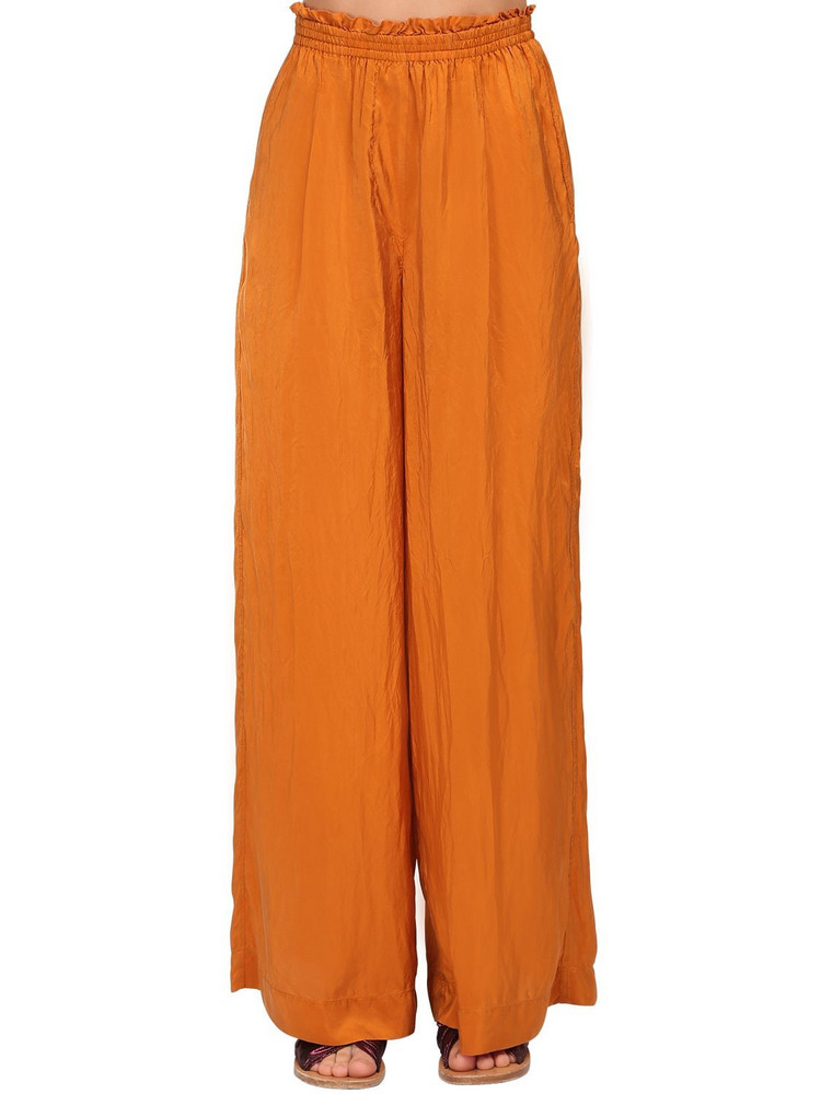 FORTE FORTE Habotai Silk Pants in orange
