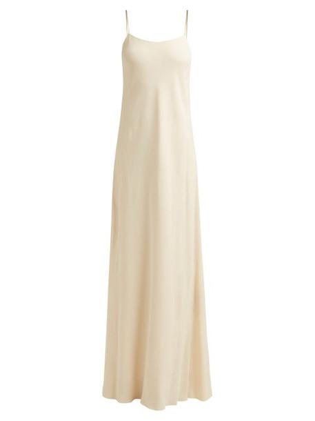 The Row - Ebbins Bias Cut Crepe Dress - Womens - Ivory
