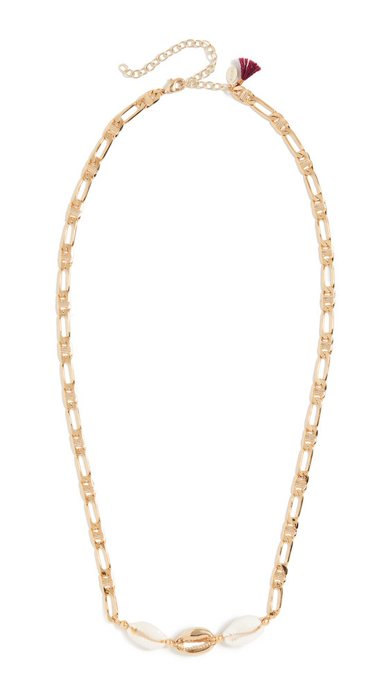Shashi Ocean Drive Necklace in gold / white