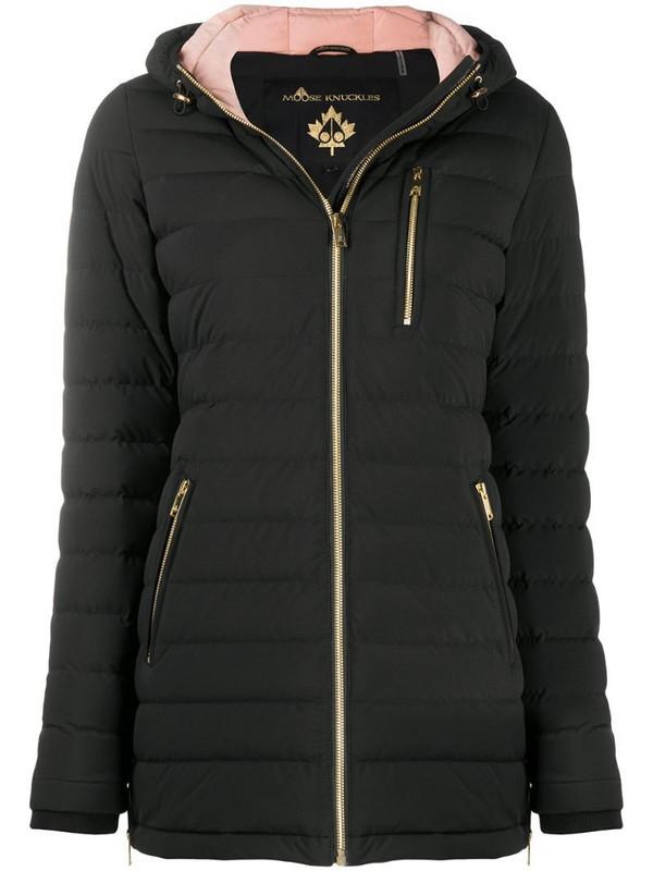 Moose Knuckles Rockcliff 2 hooded padded jacket in black