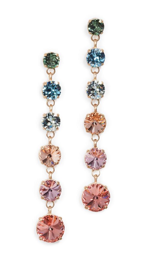 Roxanne Assoulin Technicolor Mini Crystal Drop Earrings in multi