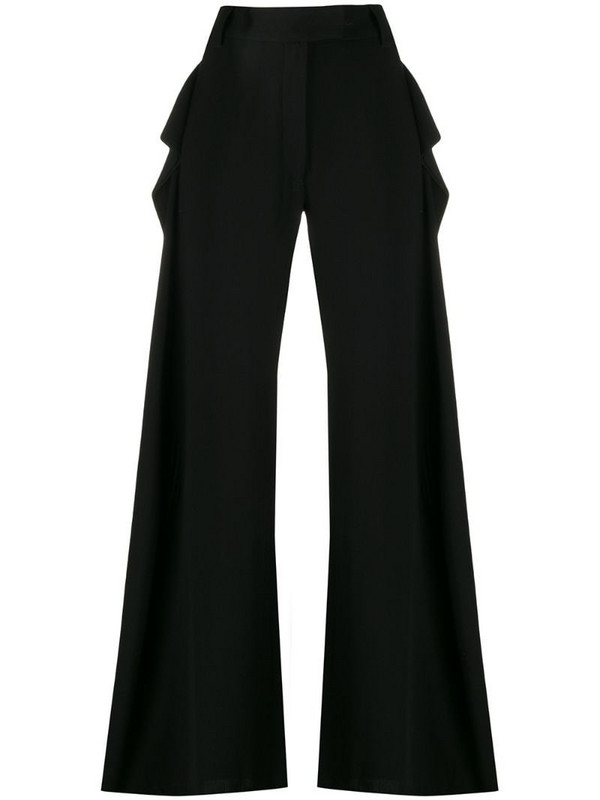 Ann Demeulemeester extra long palazzo trousers in black