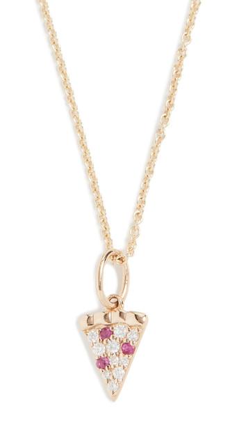 Sydney Evan 14k Gold Pizza Slice Necklace