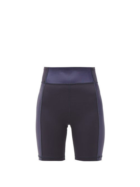 The Upside - Nalu Side Panelled Spin Shorts - Womens - Navy