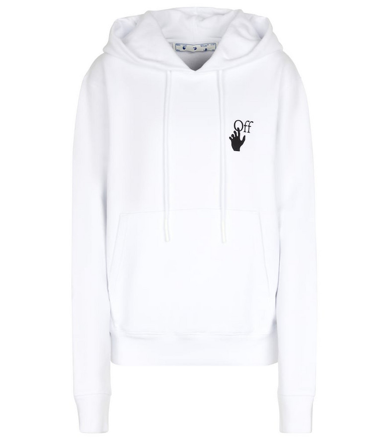 Off-White Arrows cotton hoodie in white