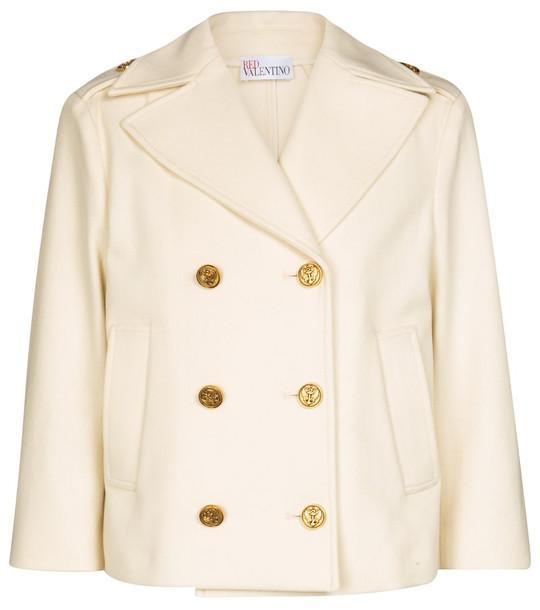 REDValentino wool-blend jacket in beige
