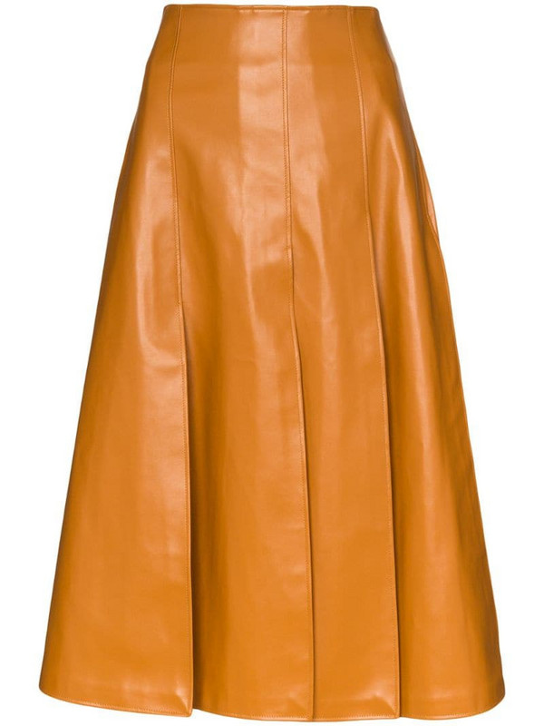 A.W.A.K.E. Mode button-back knee-length skirt in brown