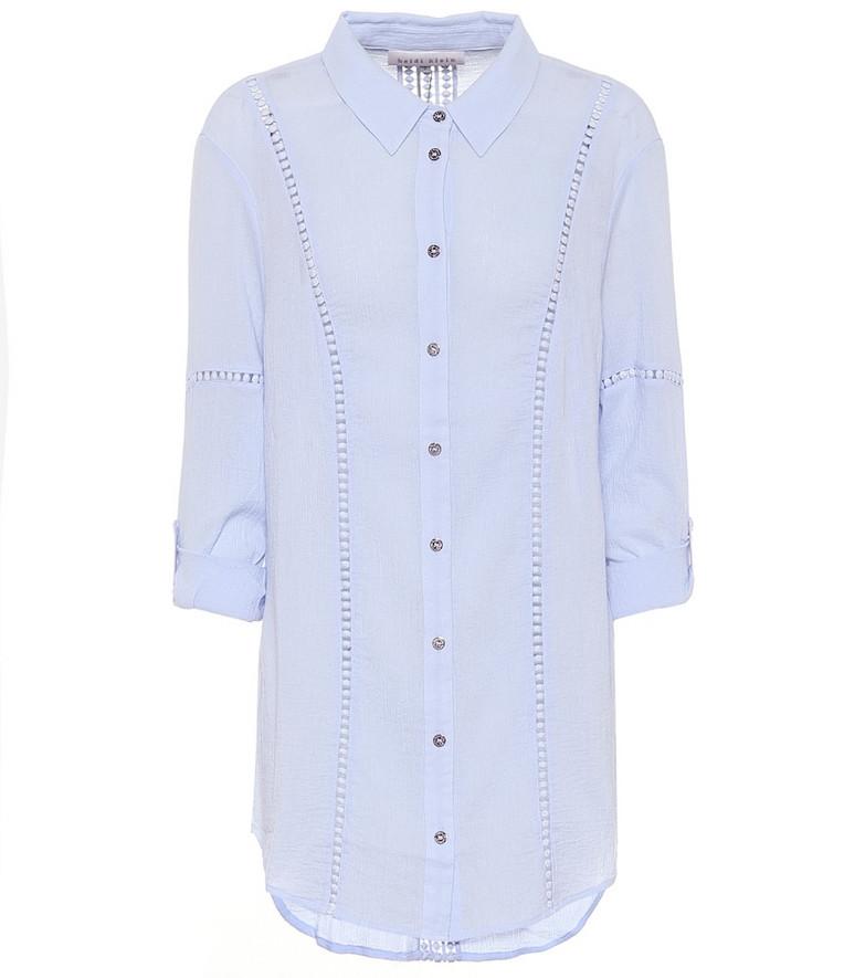 Heidi Klein Bora Bora cotton shirt in blue